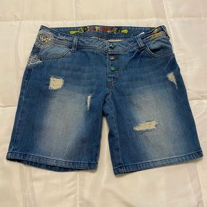 Desigual Blue Jean shorts size 32 inches